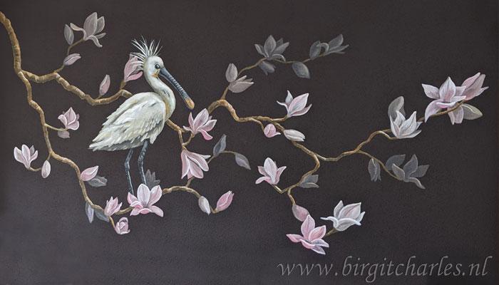 Kunst: bloemen wanddecoratie