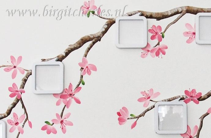 Bloesem muurschildering: voor een romantische kamer