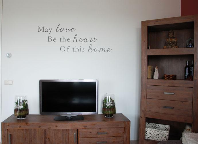 Keuken muur tekst - Deco tv muur ...