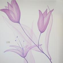 bloemen wanddecoratie muurschilderingen