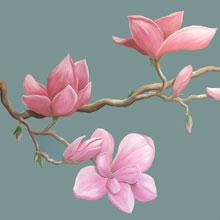 bloementak muurschildering