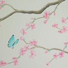 bloesem slaapkamer wanddecoratie