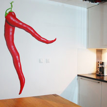 Keuken Muur Decoratie.Keuken Muurdecoratie Pepers Wanddecoratie Muurschildering