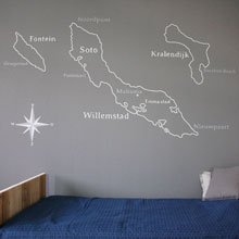 landkaart wanddecoratie