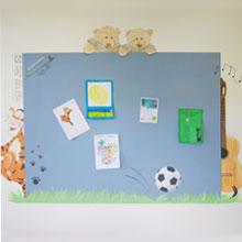 persoonlijk magneetbord muurschildering