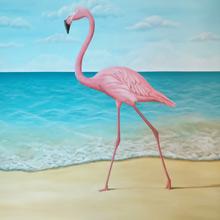strand muurschildering