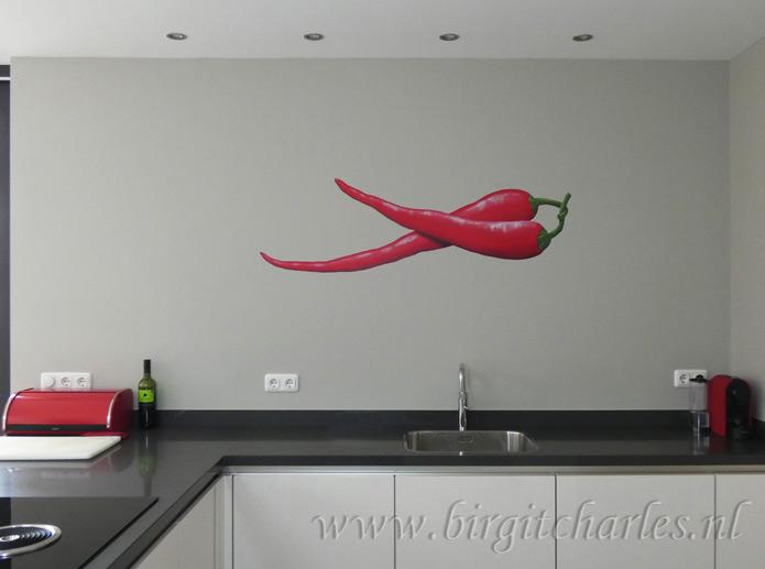 Muurdecoratie keuken muurdecoratie keuken mat zilver breed